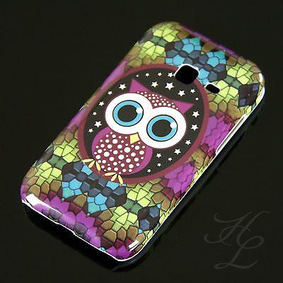Samsung Galaxy Ace Duos S6802 Hard Case Handy Hülle Cover Etui Große Eule Owl segunda mano  Embacar hacia Argentina