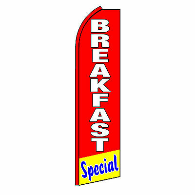 Breakfast Special Flag Flutter Feather Banner Swooper