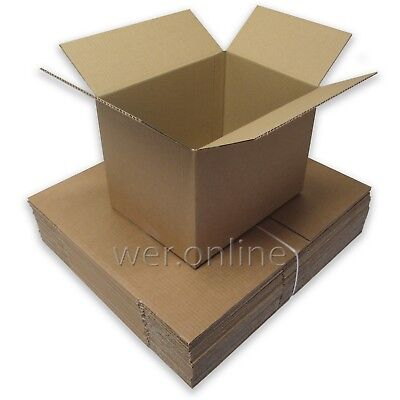 25 x A4 Postal Packing Small Cardboard Boxes 12 x 9 x 9