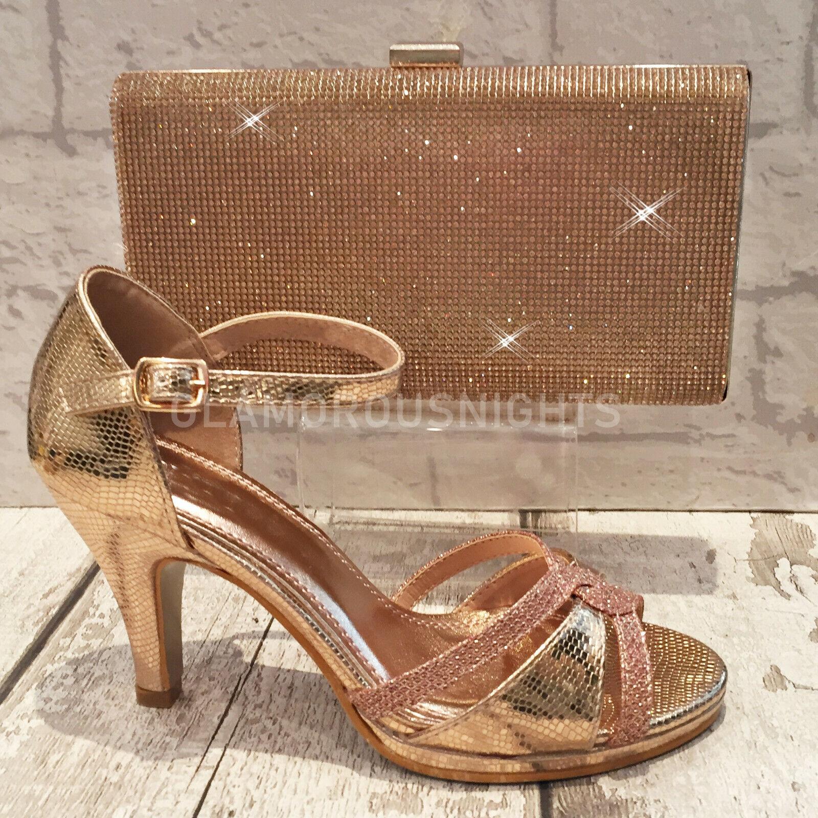 Ladies Black Shoes High Heel Sparkly Diamante Strappy Peep Toe Evening Sandal