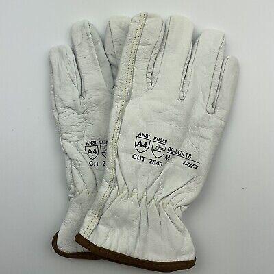 Mens Leather Work Gloves Superior Endura-goatskinkevlar Lined Size Medium