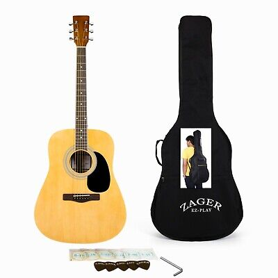 Easy Play No Sore Fingers Acoustic Guitar Player Package with Custom Easy Neck