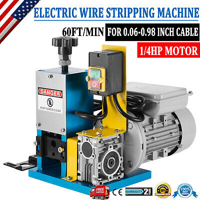 Portable Powered Electric Wire Stripping Machine Comercial 14hp Cable Stripper