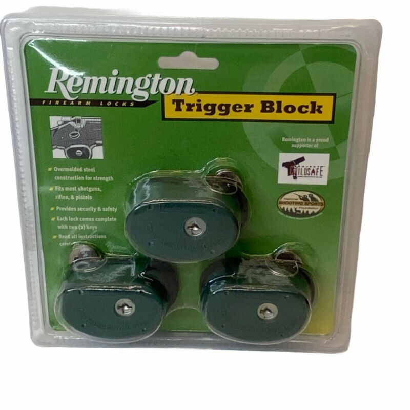 Remington Trigger Block GUN LOCK 3 Pack Rifle Pistol Shotgun 19439