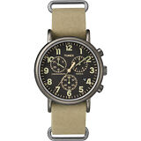 "Timex TW2P85200, ""Weekender"" Tan Nylon Watch, Chronograph, TW2P852009J"