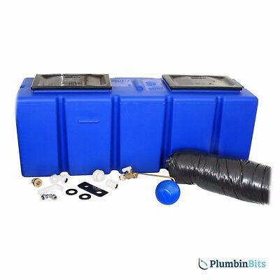 """Polytank 25 Gallon Polyblue Cold Water Coffin Loft Storage Tank 46"""" x 17"""" x 15"""""""