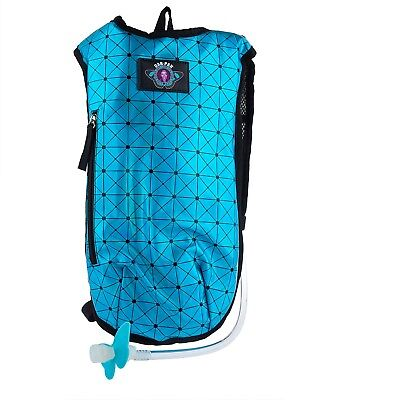 Aqua Hydration Pack - Dan-Pak Rave Hydration Pack - 2L -HOLOGRAPHIC TURQUOISE- shiny blue backpack