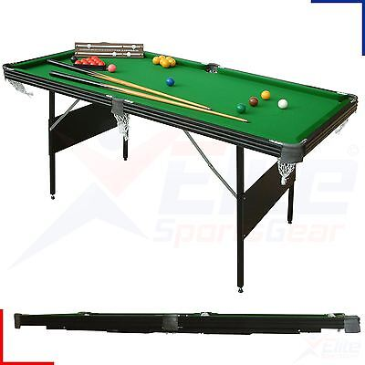 6ft Crucible 2 in 1 Snooker Pool Table Folding Fold Up