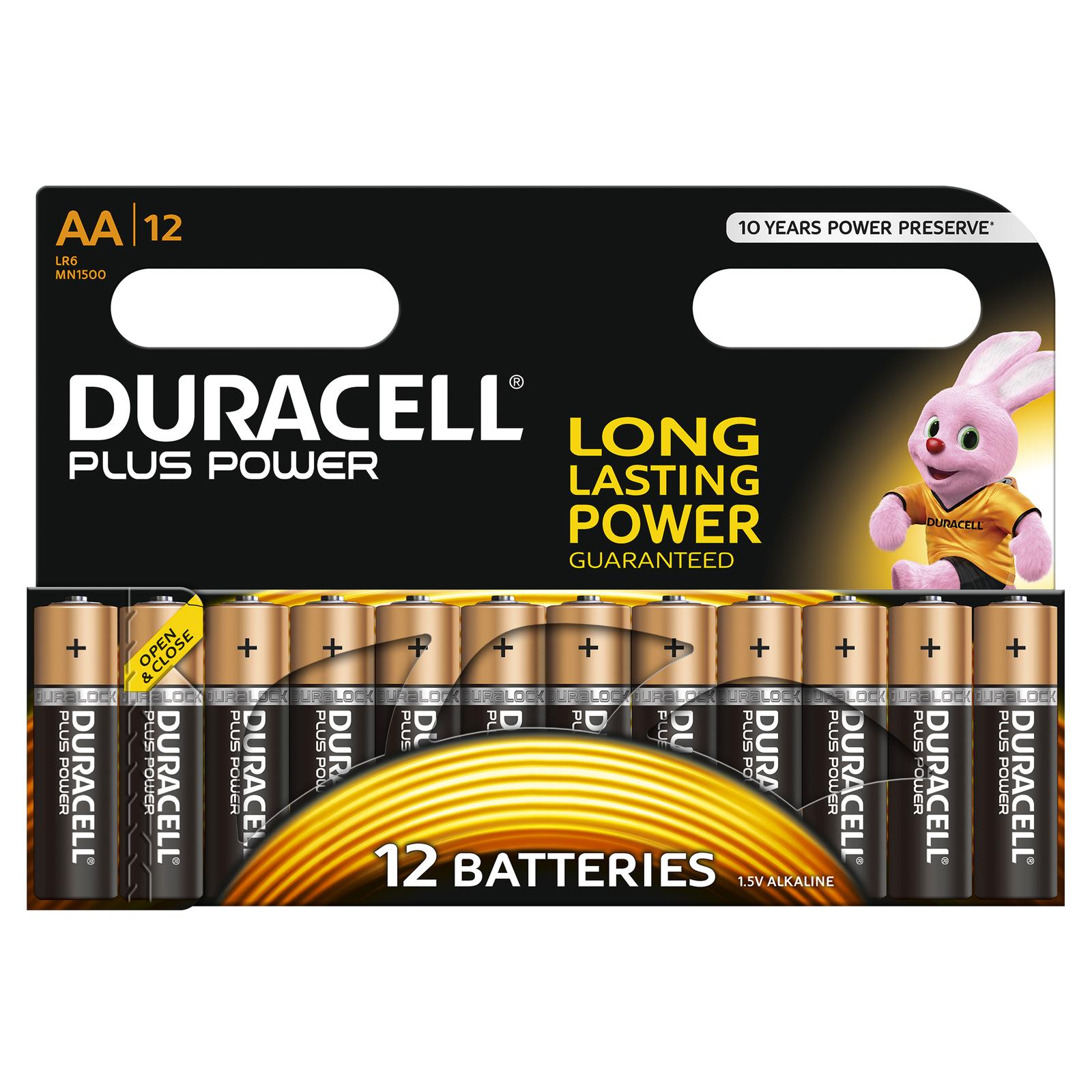 48x Duracell Plus Power  Batterie  AA  LR06  Mignon  MN1500  4x12er Bli.
