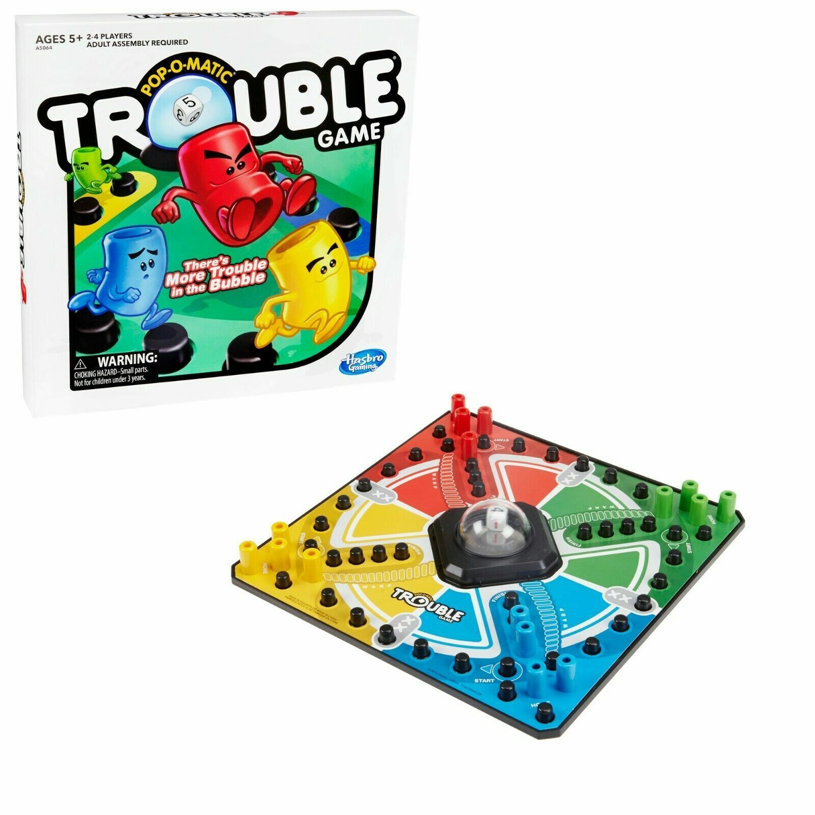 Trouble Board Game for Kids Ages 5 & Up, 2-4 Players A5064 TOY
