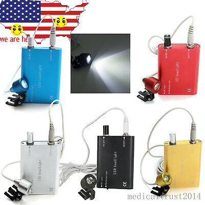 5 Color Portable Clip-on Led Head Light Lamp For Dental Surgury Binocular Loupes