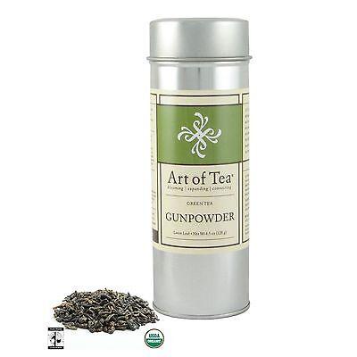 Art of Tea Fair Trade Organic Gunpowder Loose Leaf Green Tea 4oz - Gunpowder Green Loose Leaf Tea