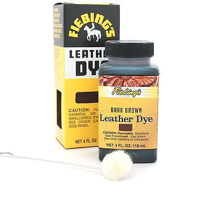 Dark Brown Fiebing's Leather Dye 4 oz 2100-03