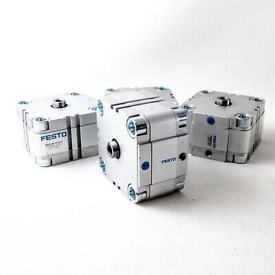 Festo Compact Pneumatic Cylinder 10mm Stroke 80mm Bore 10 Bar Max Aevu-80-10-p-a