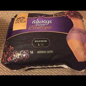 Always discreet boutique underwear pack