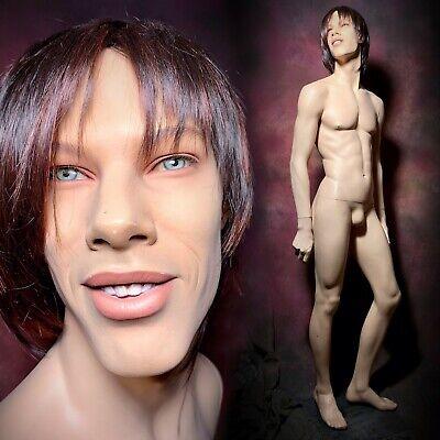 Rare New John Nissen Male Mannequin Smiling Teeth Brian Full Realistic Vintage