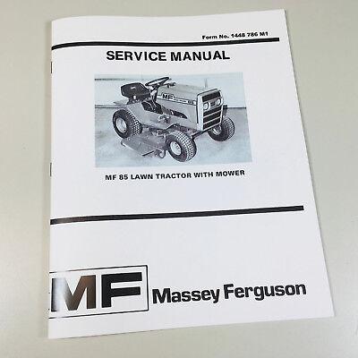 Massey Ferguson Mf 85 Lawn Garden Tractor Mower Service Shop Manual