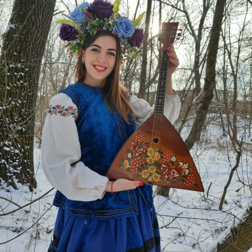 Vintage Mandalina, ancient national string instrument of the USSR,