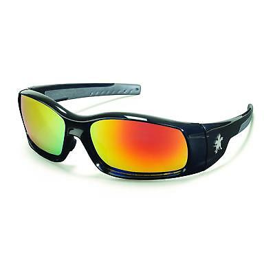 Crews Swagger Safety Glasses With Red Mirror Lens Black Frame