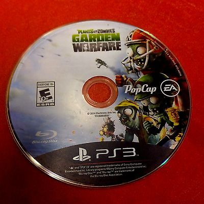 Plants Vs  Zombies  Garden Warfare  Playstation 3  2014  Disc Only   5244