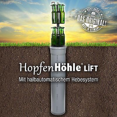 HopfenHöhle LIFT - Das Original: Outdoor Erdloch Bierkühler mit Hebesystem