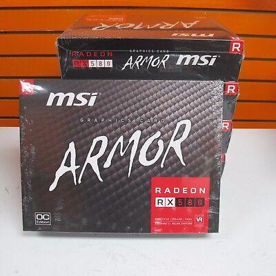 New MSI Radeon RX580 RX 580 ARMOR OC  8GB Video Card