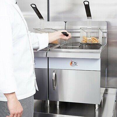 30 Lb. Natural Gas Commercial Restaurant Stainless Steel Countertop Deep Fryer