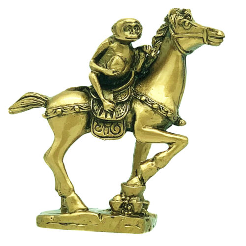 Feng Shui Monkey on The Horse Immidiate Promotion Home Office Decor Statute-BS