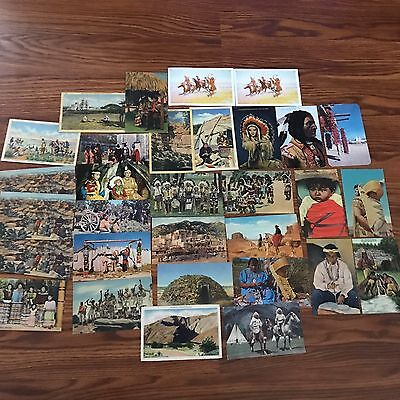 Vintage NATIVE AMERICAN INDIAN Postcards Lot Navajo Apache Seminole Babywearing
