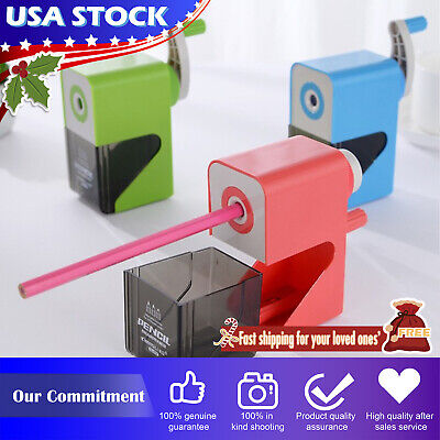 Upgrade Manual Hand-cranked Pencil Sharpener 3 Speed Adjustment Length Automatic