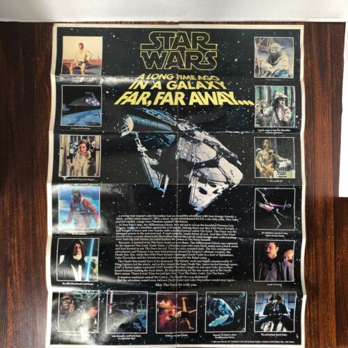 Vintage 1984 Star Wars Kenner 17x22 Poster. Rare Mail Away Exclusive!