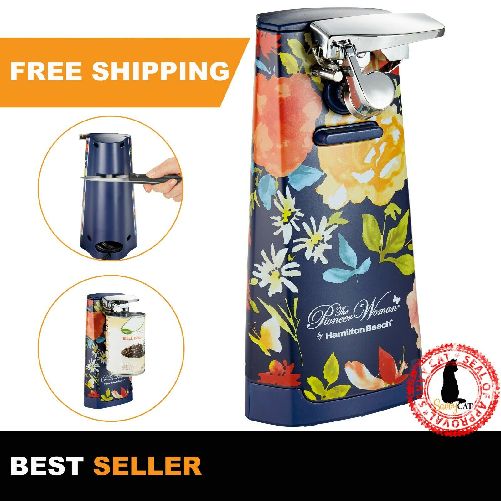 deluxe countertop electric can opener automatic smooth