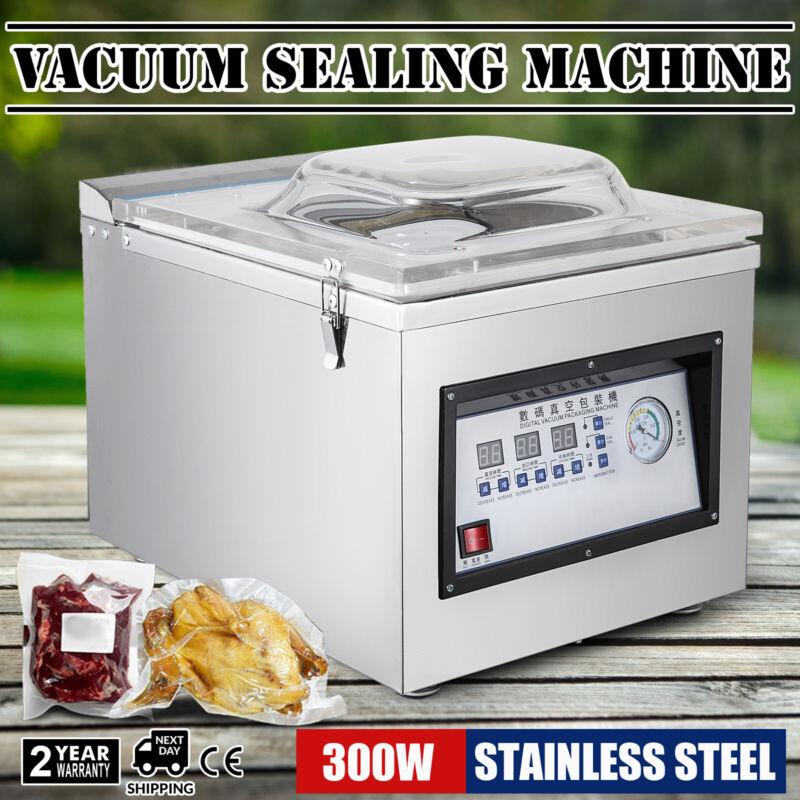 Digital Vacuum Packing Sealing Machine Sealer 300W Packaging Industrial Chamber