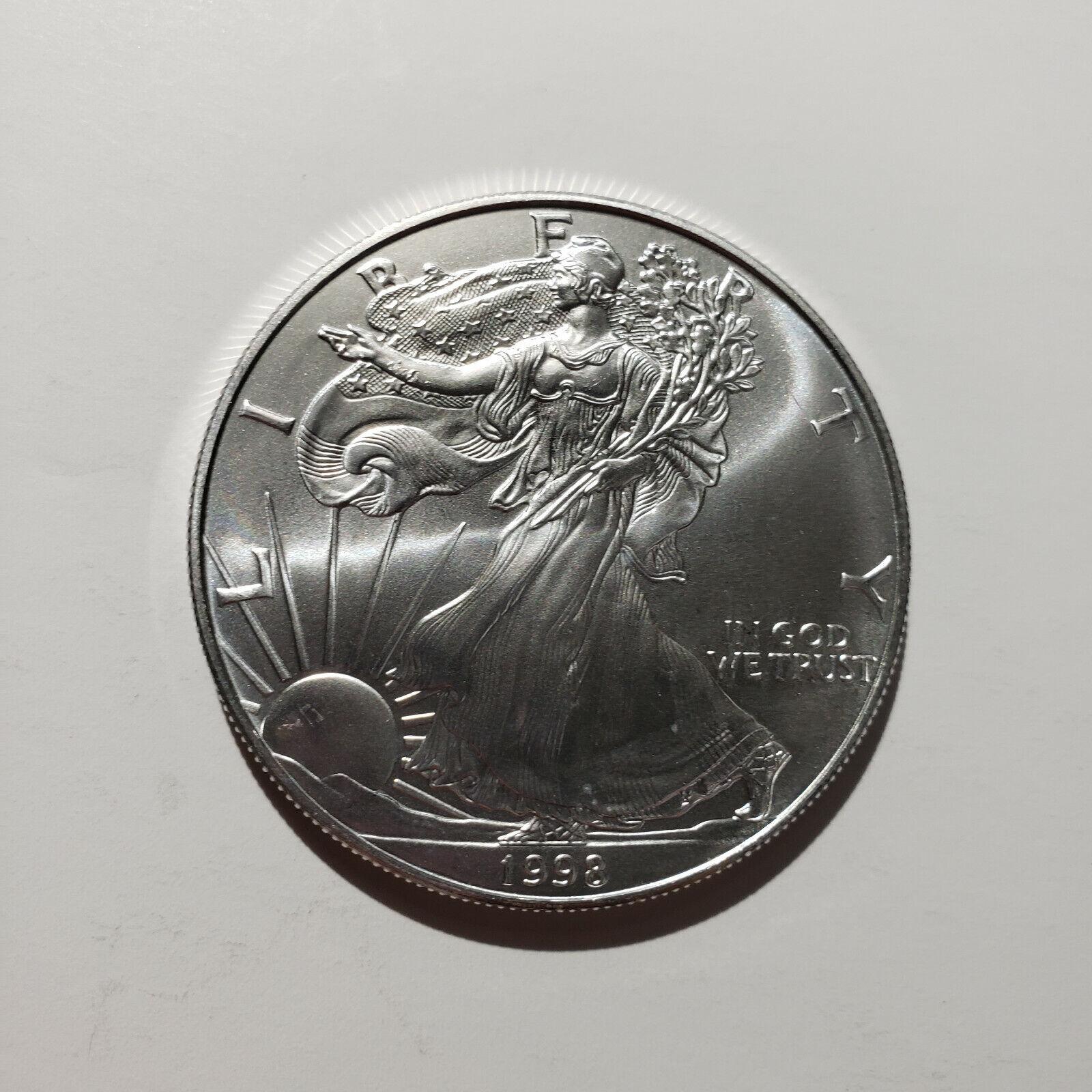 1998 American Silver Eagle 1 Oz Silver Free Shipping - $34.00
