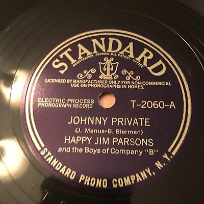 78rpm: Happy Jim Parsons (Irving Kaufman) The Saga Of Susie Brown STANDARD 2060
