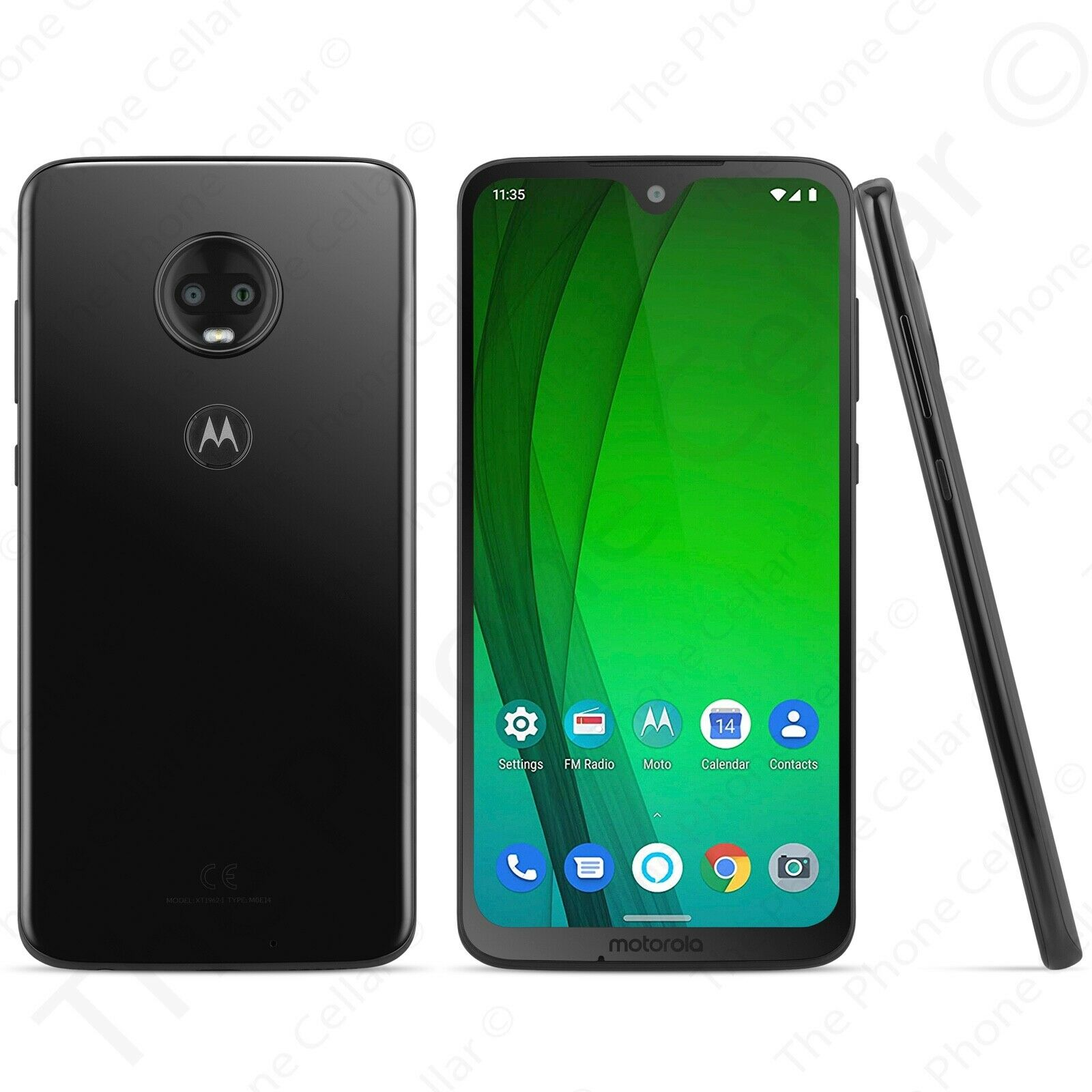 Motorola - Moto G7 XT1962 GSM Unlocked Smartphone 64GB (Ceramic Black)