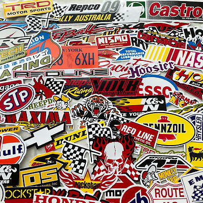 55 Random Mixed Stickers Decal Motocross Motorcycle Car ATV Racing Bike Helmet