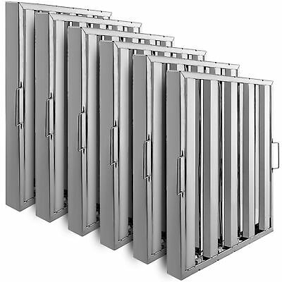 Commercial Hood Grease Exhaust Filter Baffle 20 X 20 Stainless Steel 6 Pack