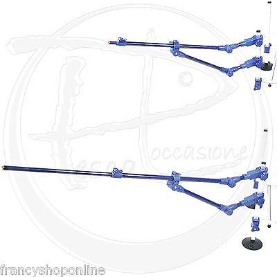 feeder arm braccetto doppio rinforzo method pesca carpa sedia panchetto F2203