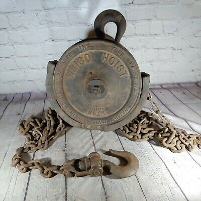 Vintage Wright Manufacturing Division 1 Ton Chain Hoist Model M
