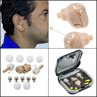 """A Pair Rechargeable Hearing Amplifier Ear""""Extra Small micro processor technology"""