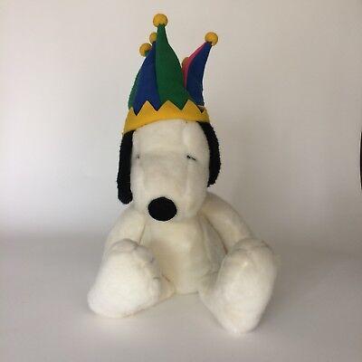 Snoopy Jester Hat Plush Stuffed Animal Macy's Millennium Peanuts Gang Large 26