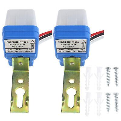 2pcs Auto On Off Light Photocell Photoswitch Sensor Switch Control Ac 230v 6a
