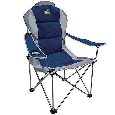 Royal President Chair Blue Silver Folding Camping Fishing Picnic Beach