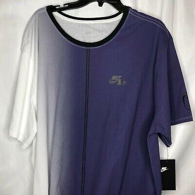 a020edf4ebd0 New Nike Air Mens Dip Dye Foam T-Shirt in White Purple  AA8669