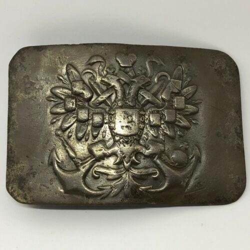 Original WWI WW1 Russian Empire soldier belt buckle NAVY