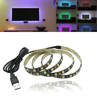 USB Powered 5V RGB LED Strip Light Backlight for LCD TV PC Computer Case Monitor](Computer Monitor Christmas Lights)