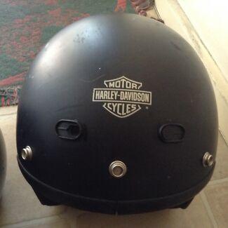 X 2 Harley Davidson bike helmet