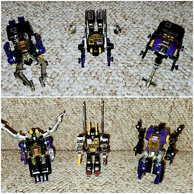 Transformers G1 INSECTICONS Lot - Shrapnel, Kickback, and Bombshell