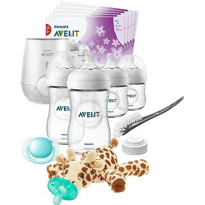 Philips Avent Natural All in One Gift Set with Snuggle Giraffe Safe Easy Feeding